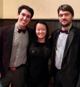 2017 concert co-ordinator and visitor guide Danielle Sum with Music Mondays performers.